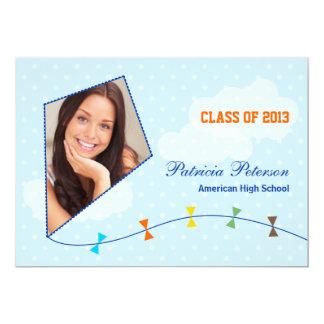Flying Kite Graduation Photo Announcement