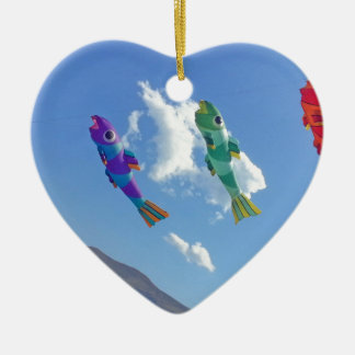 Flying Kites Ceramic Ornament