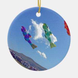 Flying Kites Ceramic Ornament
