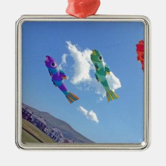 Flying Kites Metal Ornament