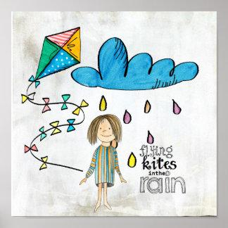 flying kites poster