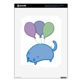 Flying kitten iPad 3 decals