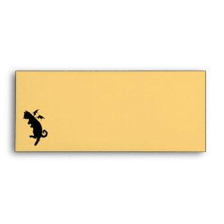 Flying kitty envelopes