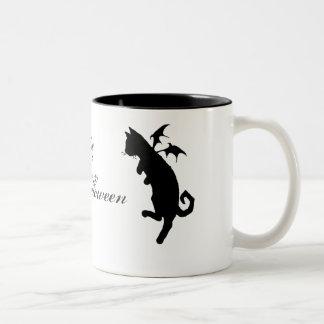 Flying kitty coffee mug