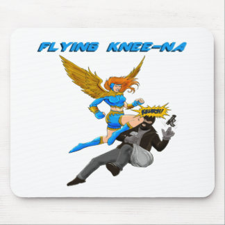 Flying Knee-Na Mouse Pad