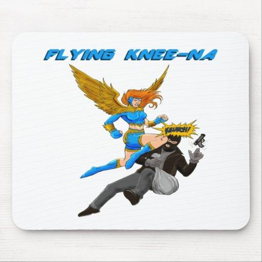 Flying Knee-Na Mousepad