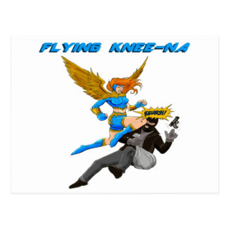 Flying Knee-Na Postcard