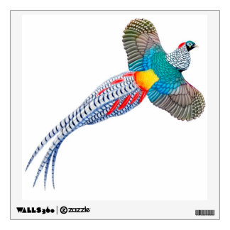 Flying Lady Amherst Pheasant Wall Decal