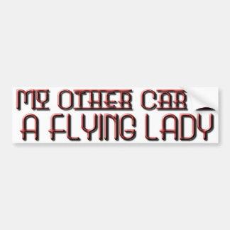 FLYING LADY BUMPER STICKER