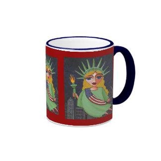Flying Lady Liberty - mug