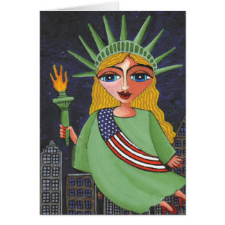 Flying Lady Liberty - notecard / invites Stationery Note Card