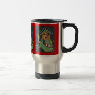 Flying Lady Liberty - travel mug