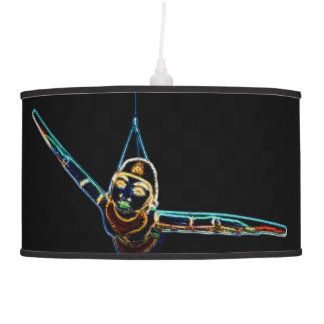 Flying Lady Neon hanging lamp