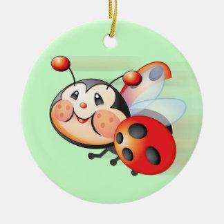 Flying Ladybug Ornament