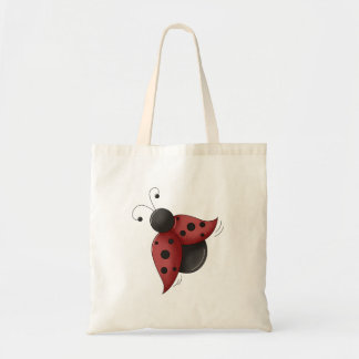 Flying Ladybug Tote Bag