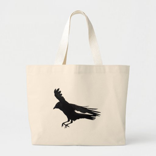Flying Landing Black Crow Art Bags
