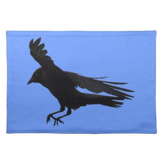 Flying Landing Black Crow Art Cloth Placemat