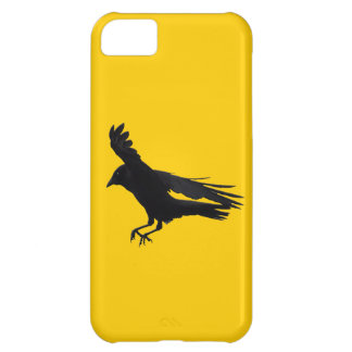 Flying Landing Black Crow Art Cover For iPhone 5C