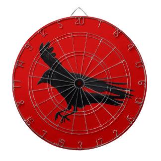 Flying Landing Black Crow Art Dartboard