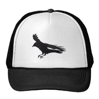 Flying Landing Black Crow Art Trucker Hat