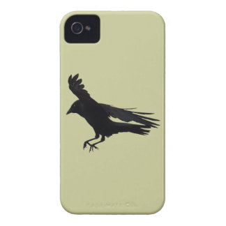 Flying Landing Black Crow Art iPhone 4 Cover