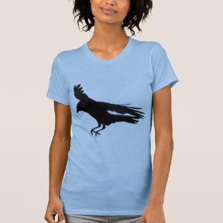 Flying Landing Black Crow Art T-Shirt