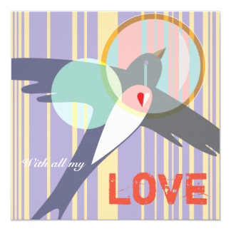 Flying Lark Greeting Card - With All My Love