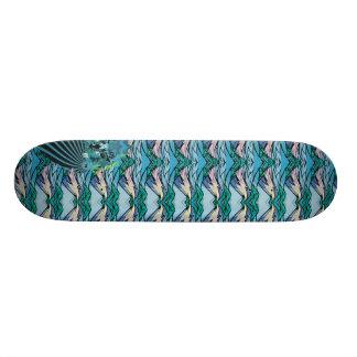 flying lips Cyan Skate Board Decks
