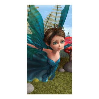 Flying Little Fairy Butterfly Card