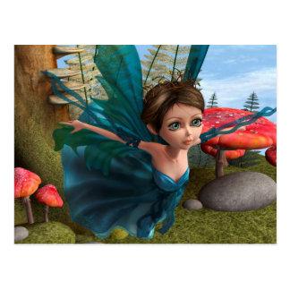 Flying Little Fairy Butterfly Postcard
