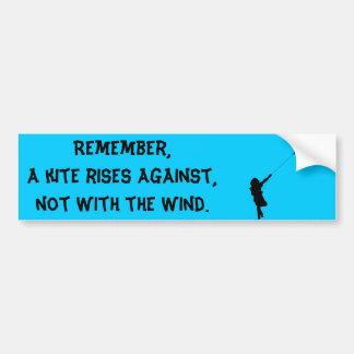 Flying Love Kite Bumper Sticker