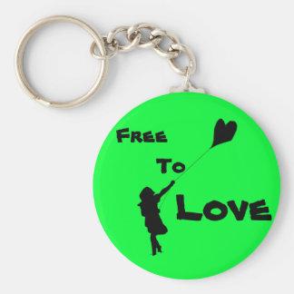 Flying Love Kite Keychain