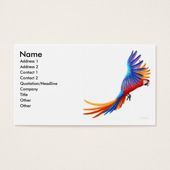 Flying Macaw Parrot Business Card
