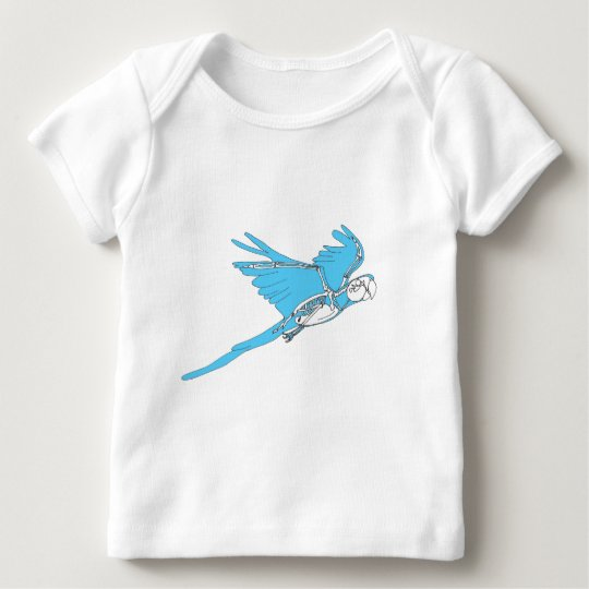 Flying macaw skeleton baby T-Shirt