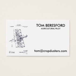 Flying Machine 1908 Business Card