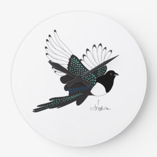 Flying Magpie clock