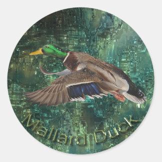 Flying Male Mallard Duck (Drake) Wildlife Sticker