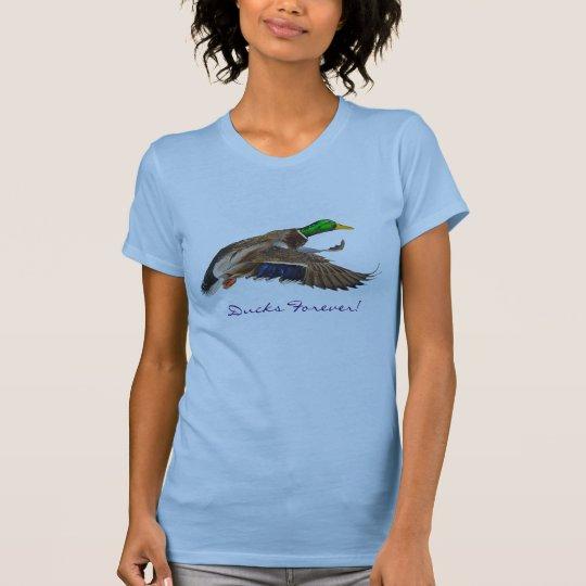 Flying Male Mallard Duck Ducks Forever! Shirt