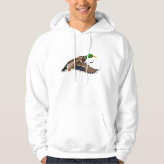 Flying Male Mallard Duck Wildlife Hoodie