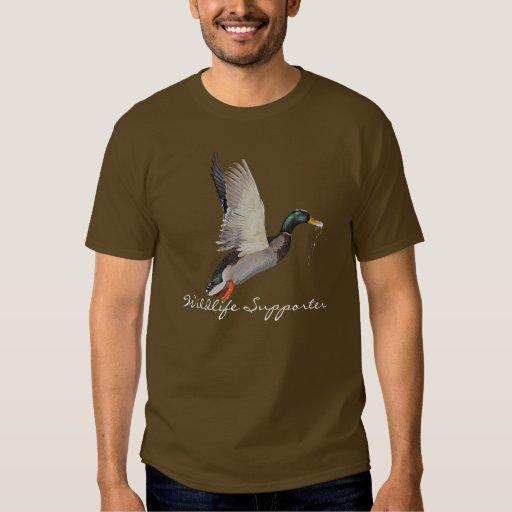 Flying Mallard Duck 2 Wildlife Supporter T-Shirt