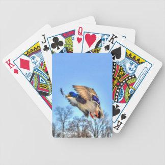 Flying Mallard Duck Drake Wildlife Photo Deck Of Cards