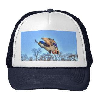 Flying Mallard Duck Drake Wildlife Photo Trucker Hat