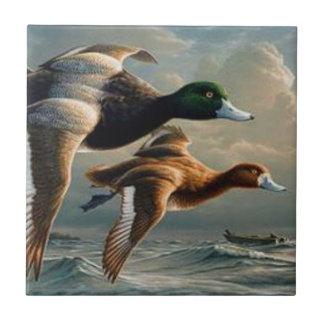 Flying Mallard Ducks. Ceramic Tile