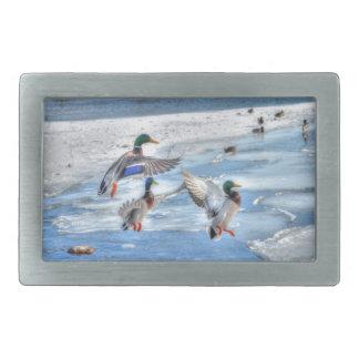 Flying Mallard Ducks Wildlife Gift Belt Buckle