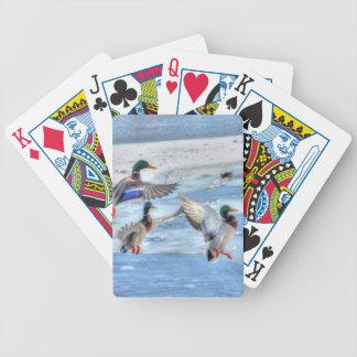 Flying Mallard Ducks Wildlife Gift Deck Of Cards