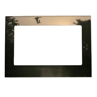 Flying Mallards and Morning Fog Magnetic Photo Frame