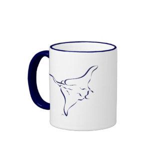 Flying Manta Ray Ringer Mug