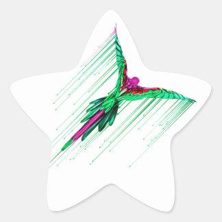 Flying Melting Parrot Star Sticker