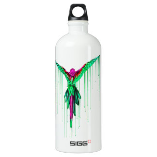 Flying Melting Parrot Water Bottle