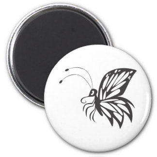 Flying Monarch Butterfly 2 Inch Round Magnet